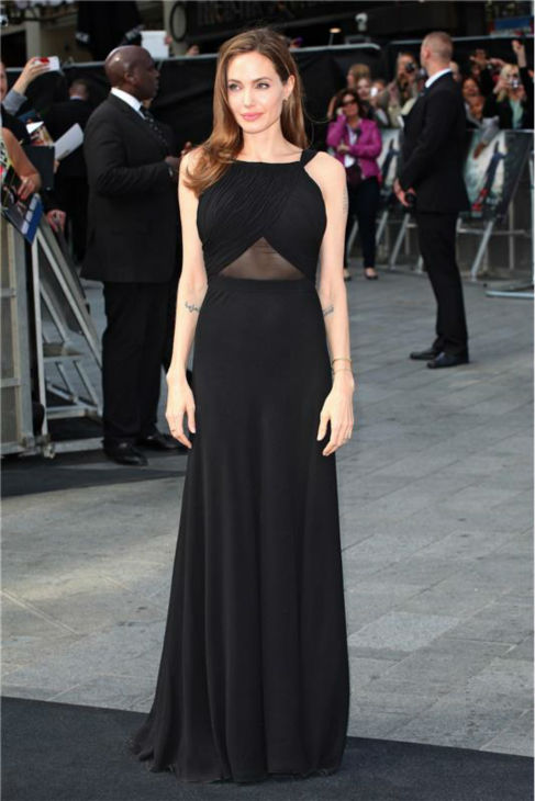Angelina Jolie appears at the premiere of &#39;World War Z,&#39; which stars her partner Brad Pitt, in London on June 2, 2013. <span class=meta>(Future Image &#47; Startraksphoto.com)</span>