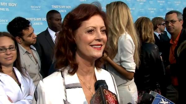 Susan Sarandon talks to OnTheRedCarpet.com at the premiere of Thats My Boy on June 4, 2012. - Provided courtesy of OTRC