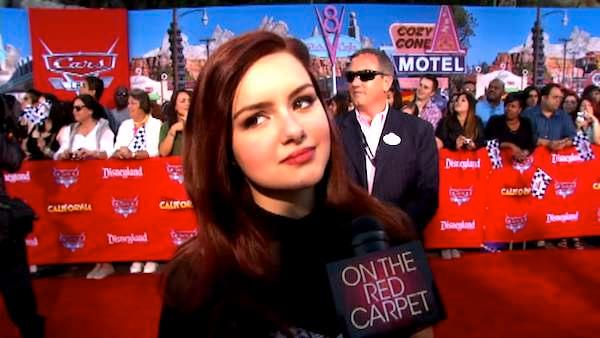 Ariel Winter talks to OnTheRedCarpet.com at the opening of Cars Land at Disneyland Resort in Anaheim, Calif. on June 13, 2012.