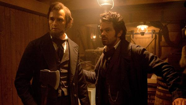 Benjamin Walker and Dominic Cooper appear in a still from Abraham Lincoln: Vampire Hunter. - Provided courtesy of Twentieth Century Fox Film Corp.
