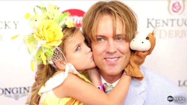 Dannielynn and Larry Birkhead appear in a still from Good Morning America. - Provided courtesy of ABC