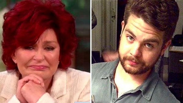 Sharon Osbourne appears on the June 18, 2012 episode of The Talk. / Jack Osbourne appears in a photo posted on his Twitter page on November 2, 2011. - Provided courtesy of CBS / twitter.com/MrJackO/status/131855372565745664