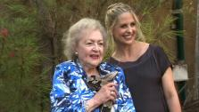 Betty White and Sarah Michelle Gellar pose for pictures at the Greater Los Angeles Zoo Associations 42nd Annual Beastly Ball on Saturday, June 16, 2012. - Provided courtesy of OTRC