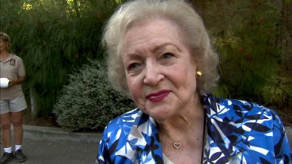 Betty White talks to OnTheRedCarpet.com at the Greater Los Angeles Zoo Associations 42nd Annual Beastly Ball on Saturday, June 16, 2012. - Provided courtesy of OTRC