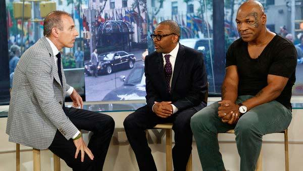 Mike Tyson, Spike Lee and Matt Lauer appear on the Today show on June 19, 2012. - Provided courtesy of NBC