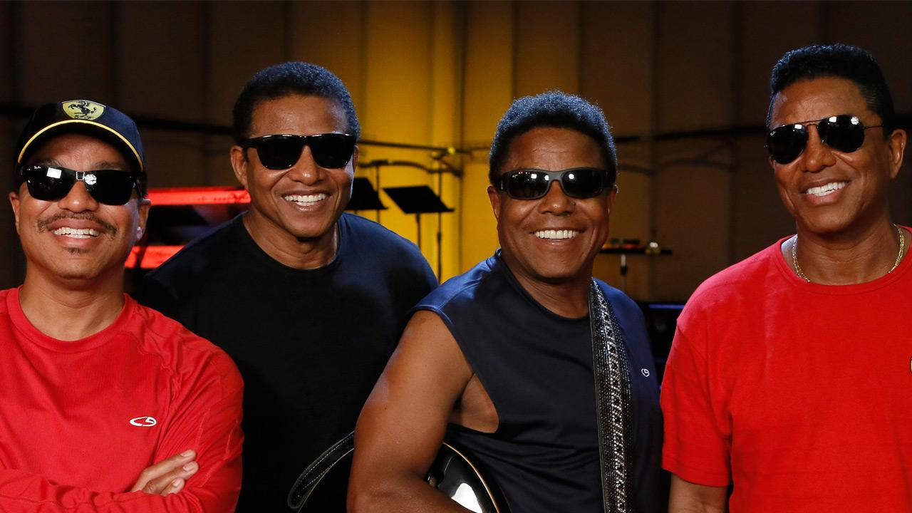 This June 12, 2012 file photo shows, from left, Marlon Jackson, Jackie Jackson, Tito Jackson and Jermaine Jackson during a rehearsal in Burbank, Calif.