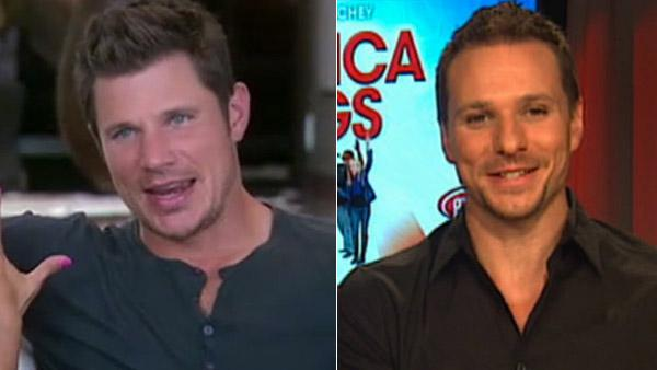 Nick Lachey and Vanessa Minnillo appear on Good Morning America. / Drew Lachey answers whether his former band mates plan to capitalize on the boy band reunion craze soon. - Provided courtesy of OTRC / OTRC / Good Morning America