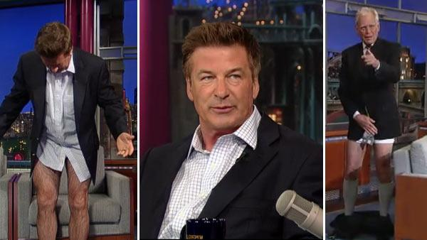 Alec Baldwin and David Letterman appear on a June 20, 2012 episode of The Late Show with David Letterman. - Provided courtesy of CBS