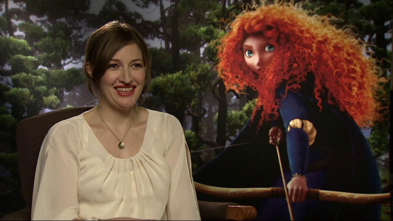 Scottish actress Kelly Macdonald played Merida in Disney-Pixars animated movie Brave. She is pictured talking to OnTheRedCarpet.com at a junket for the film in June 2012.