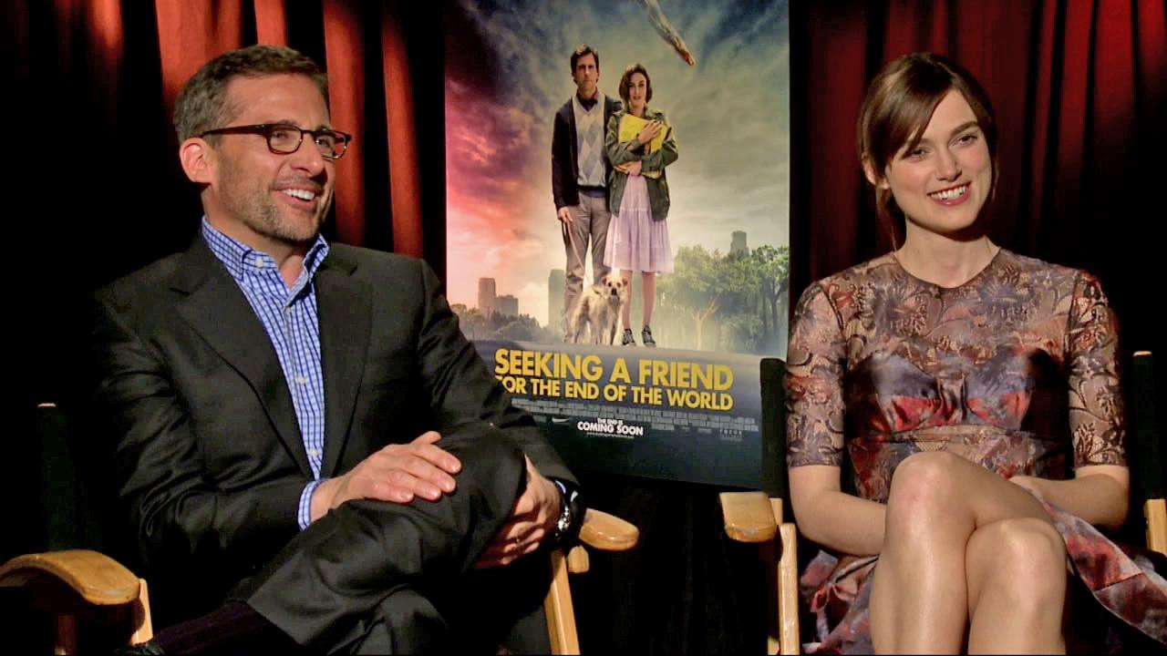 Steve Carell and Keira Knightley appear in an interview with OnTheRedCarpet.com on June 18, 2012.