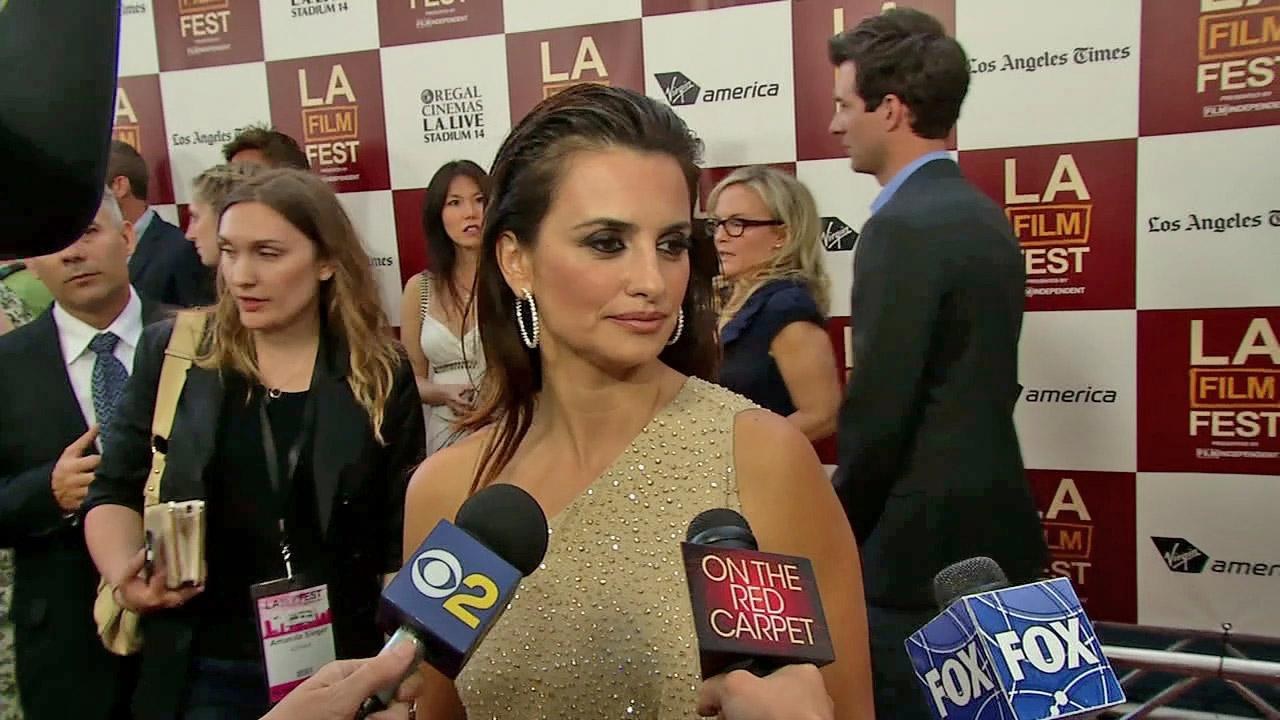 Penelope Cruz appears at the premiere of To Rome With Love at the Los Angeles Film Festival on June 14, 2012.