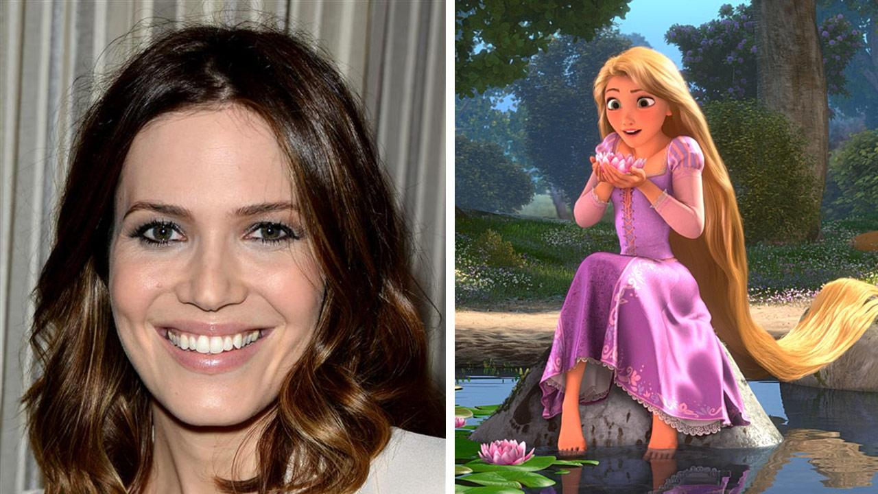 Mandy Moore appears at the QVC Red Carpet Style event at the Four Seasons hotel in Beverly Hills California on Feb. 28, 2014. / Rapunzel appears in a scene from Disney-Pixars 2010 movie Tangled.Tony DiMaio / Startraksphoto.com / Walt Disney Pictures