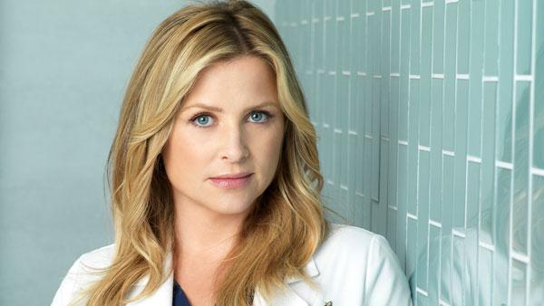 Jessica Capshaw appears in a promotional photo for 'Grey's Anatomy' in 2011.