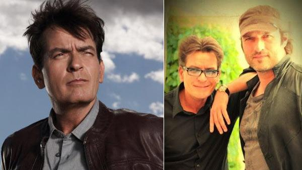 Charlie Sheen appears in a promotional photo for his FX series, Anger Management. / Charlie Sheen and Robert Rodriguez appear in a photo from Rodriguezs official Twitter profile. - Provided courtesy of FX / Greg Gayne / https://twitter.com/Rodriguez/