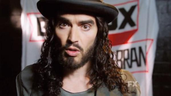 Russell Brand appears in a still from his FX series, Brand X with Russell Brand. - Provided courtesy of FX