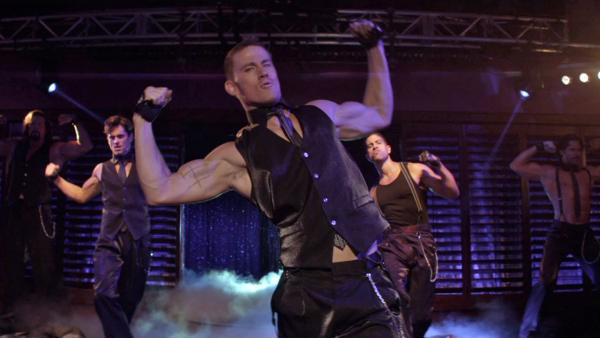 Channing Tatum performs to 'It's Raining Men'