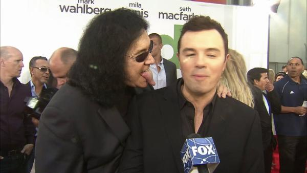 KISS' Gene Simmons sticks tongue out at Seth MacFarlane