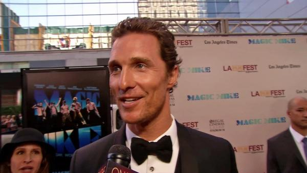 Matthew McConaughey at 'Magic Mike' premiere