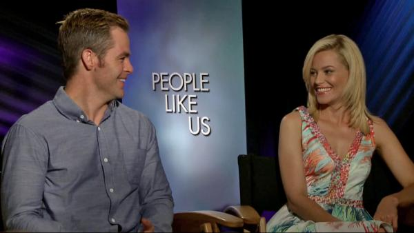 Chris Pine and Elizabeth Banks on 'People Like Us'