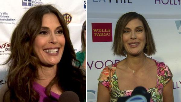 Teri Hatcher debuts short hair at Hollywood Bowl event