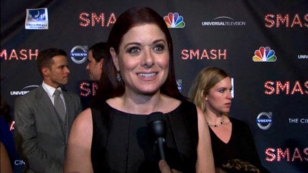 Debra Messing appears at the premiere of NBC's 'Smash' in January 2012.