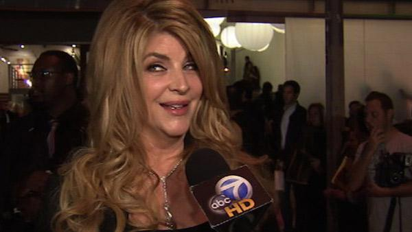 Kirstie Alley speaks to OnTheRedCarpet.com at the opening of her 'Organic Liaison' he
