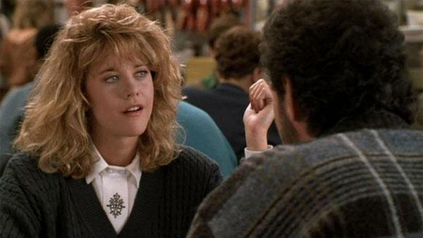 Meg Ryan and Billy Crystal appear in the iconic deli scene in the 1989 movie 'When Harry Met Sally...'
