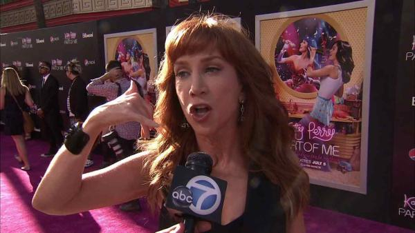 Kathy Griffin appears in a photo from Katy Perry's film premiere at Grauman's Chinese Theatre in Hollywood, California on June 26, 2012.