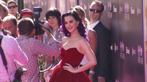 Katy Perry appears at the premiere of her film 'Part of Me 3D' at Grauman's Chinese Theatre in Hollywood, California on June 26, 2012.