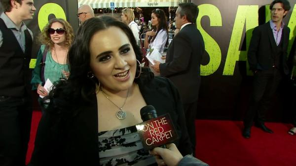 Nikki Blonsky talks to OnTheRedCarpet.com at the premiere of Oliver Stones film Savages in Los Angeles on June 25, 2012.