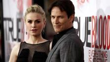 Anna Paquin, left, and Stephen Moyer attend the premiere of HBOs True Blood on Wednesday, May 30, 2012 in Los Angeles. - Provided courtesy of AP / Matt Sayles