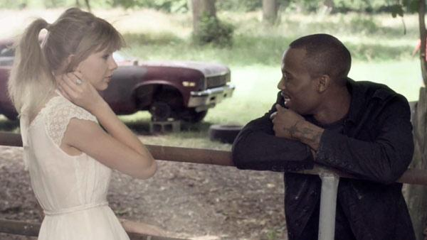 Taylor Swift and B.o.B. appear in a still from the rappers Both of Us music video. - Provided courtesy of WMG