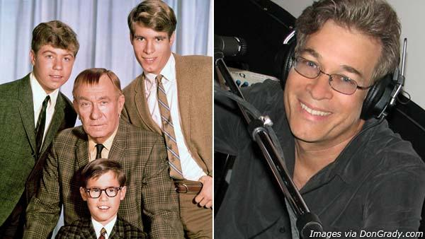 Don Grady appears with the cast of 'My Three Sons' in an undated photo from his website. / Don Grady appears in an undated photo from his website.