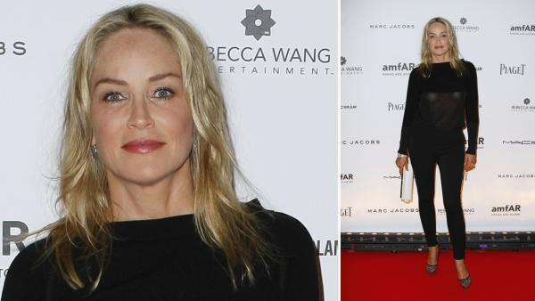 Sharon Stone arrives at a AmfAR gala in Paris, Thursday, June 28, 2012. - Provided courtesy of AP / Thomas Padilla/Invision/AP on behalf of Rebecca Wang Entertainment