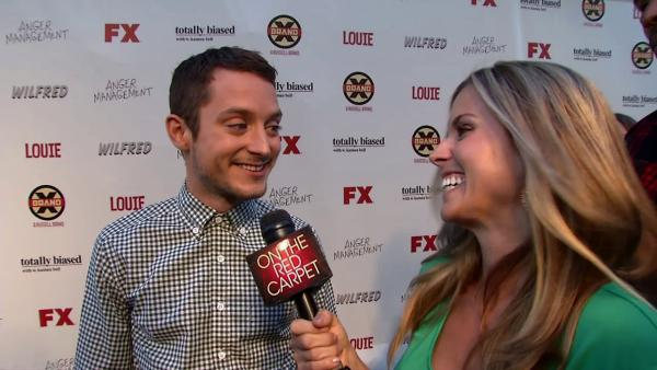 Elijah Wood talks to OnTheRedCarpet.com at the premiere of season 2 of the FX show Wilfred in Los Angeles on June 26, 2012.