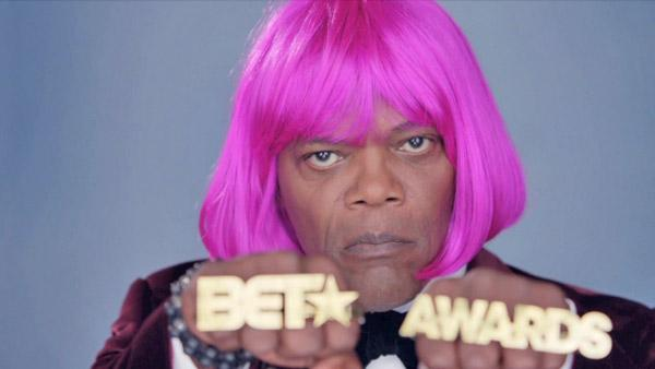 Samuel L. Jackson, host of the 2012 BET Awards, appears in a promotional photo from the networks website. - Provided courtesy of bet.com