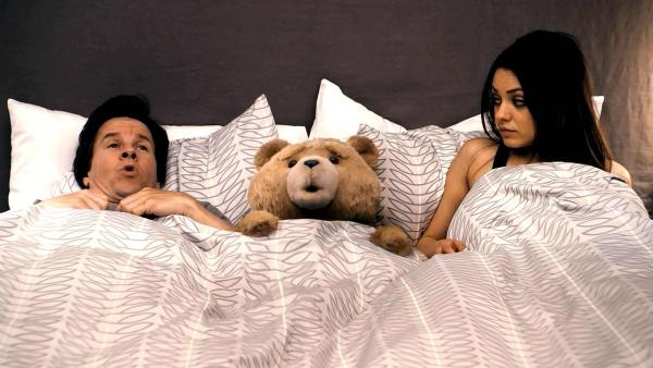 Mark Wahlberg and Mila Kunis appear in a still from Ted. - Provided courtesy of Universal Pictures