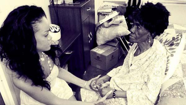 Rihanna appears in a photo with her grandmother posted on her official Instagram account on July 1, 2012. - Provided courtesy of instagram.com/p/Mh1wSKhM2j/