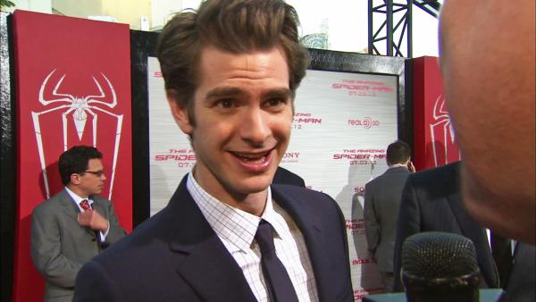 Andrew Garfield talks to OnTheRedCarpet.com at the Hollywood premiere of The Amazing Spider-Man, at Westwoods Regency Village Theatre in Los Angeles on June 28, 2012. - Provided courtesy of OTRC