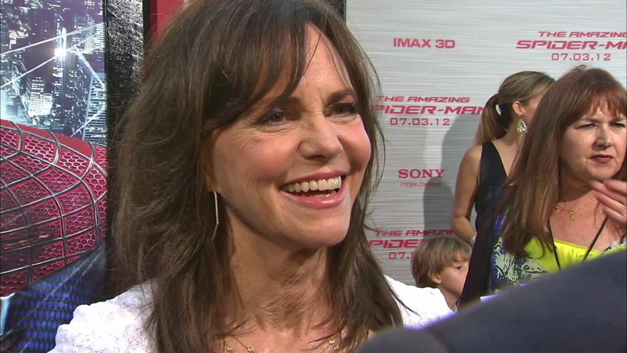 Sally Field talked to OnTheRedCarpet.com at the premiere of The Amazing Spider-Man on June 28, 2012.