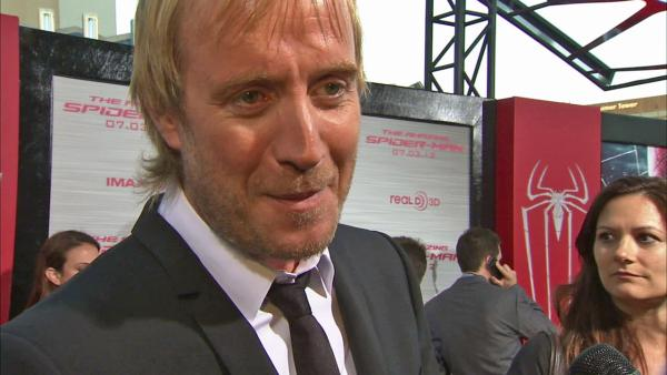 Rhys Ifans talked to OnTheRedCarpet.com at the premiere of The Amazing Spider-Man on June 28, 2012. - Provided courtesy of OTRC