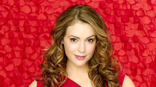 Alyssa Milano in a promotional photo for 'Romantically Challenged.'