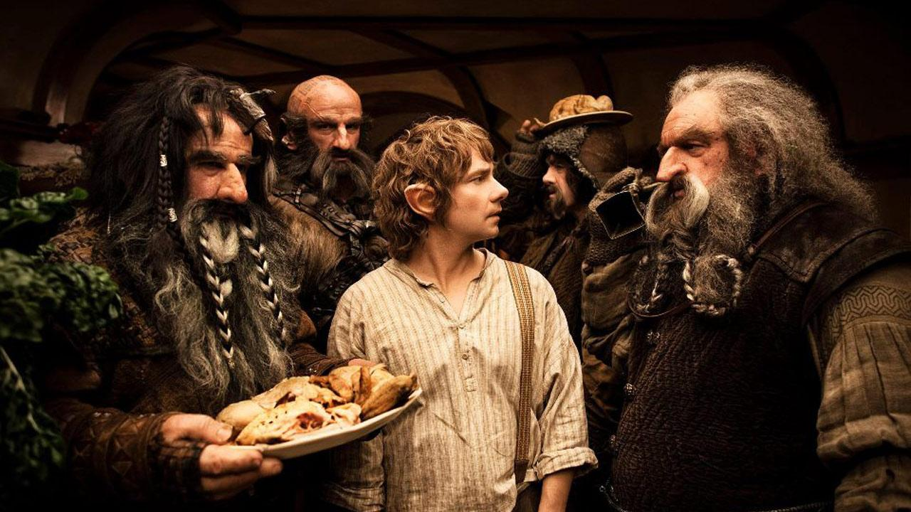Martin Freeman appears as Bilbo Baggins in New Line Cinemas and MGMs fantasy adventure the Hobbit: An Unexpected Journey, a 2012 Warner Bros. Pictures release. It is the first of a two-part prequel to the hit Lord of the Rings franchise.