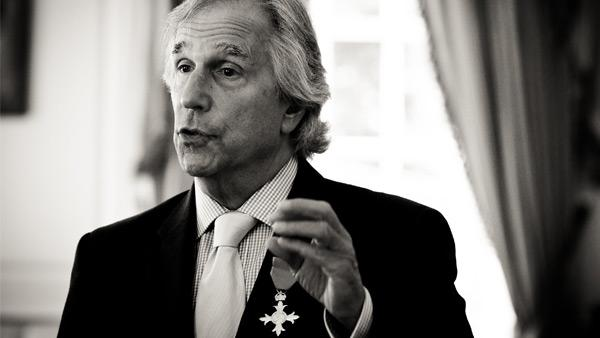 Henry Winkler accepts the honor of Honorary Officer of the Most Excellent Order of the British Empire on September 14, 2011.