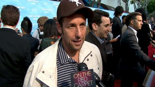 Adam Sandler talks to