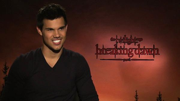 Taylor Lautner talks to OnTheRedCarpet.com about 'The Twilight Saga: Breaking Dawn - Part 1' in November 2011.
