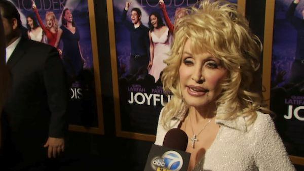 Dolly Parton talks to OnTheRedCarpet.com's George Pennochio at the January 9 premiere of his 2012 film 'Joyful Noise.'