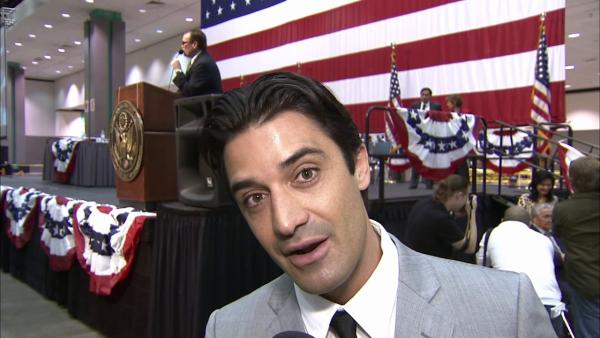 Gilles Marini talks to OnTheRedCarpet.com after he is sworn in as a U.S. citizen at the Los Angeles Convention Center on Wednesday, June 27, 2012.