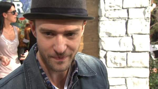 Justin Timberlake talks about 'Yogi Bear' at the premiere in Los Angeles in December 2010.