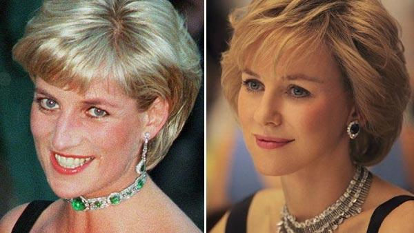 Diana, Princess of Wales, smiles as she arrives at the Tate Gallery in London in this Tuesday July 1, 1997 file photo. / Naomi Watts appears in a still from the 2012 film, Caught in Flight. - Provided courtesy of Ecosse Films